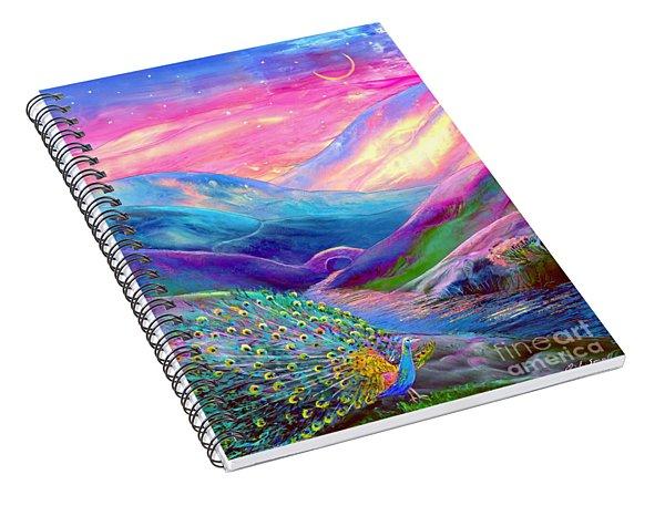 Peacock Magic Spiral Notebook
