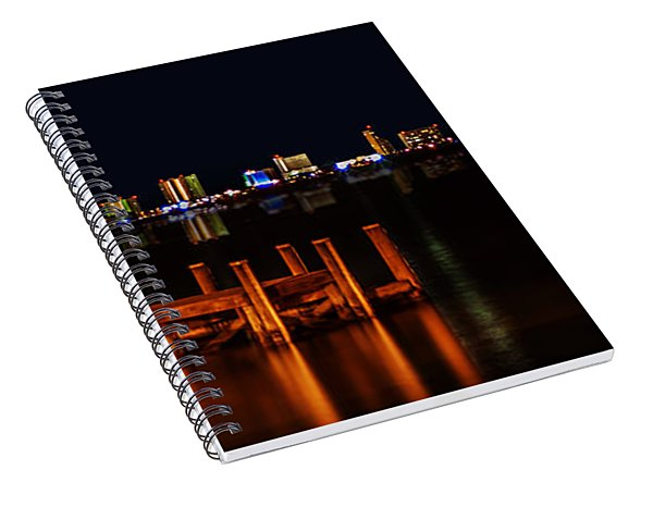 Pensacola Beach Reflections Spiral Notebook