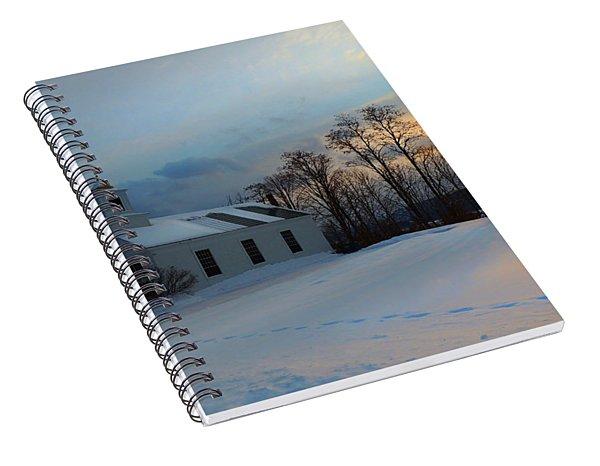 Piermont Church In Winter Light Spiral Notebook