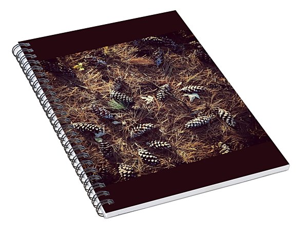 Pine Cones And Patterns Spiral Notebook