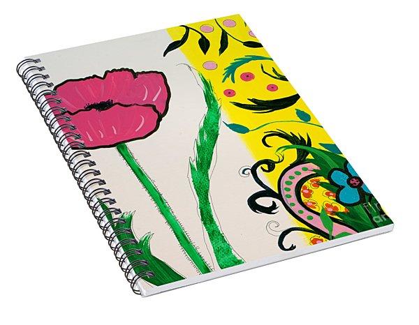 Pink Poppy And Designs Spiral Notebook