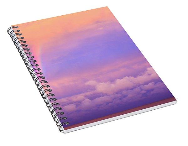 Pink Sunset Rainbow Spiral Notebook