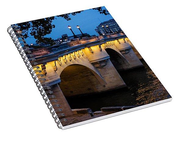 Pont Neuf Bridge - Paris France Spiral Notebook