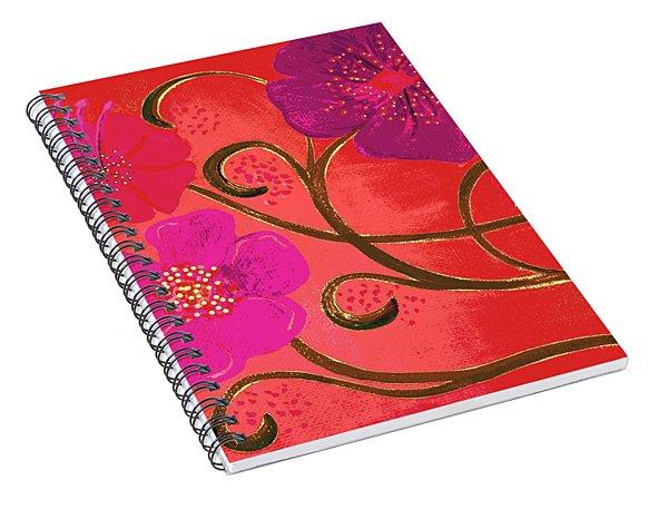 Pop Spring Purple Flowers Spiral Notebook