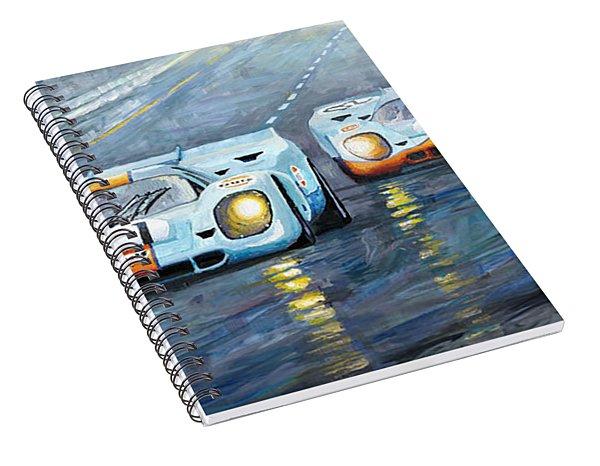 Porsche 917 K Gulf Spa Francorchamps 1971 Spiral Notebook
