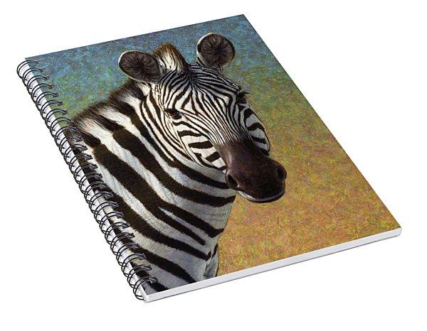 Portrait Of A Zebra Spiral Notebook