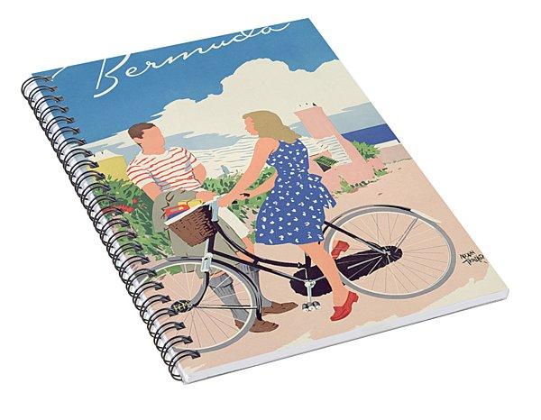 Poster Advertising Bermuda Spiral Notebook