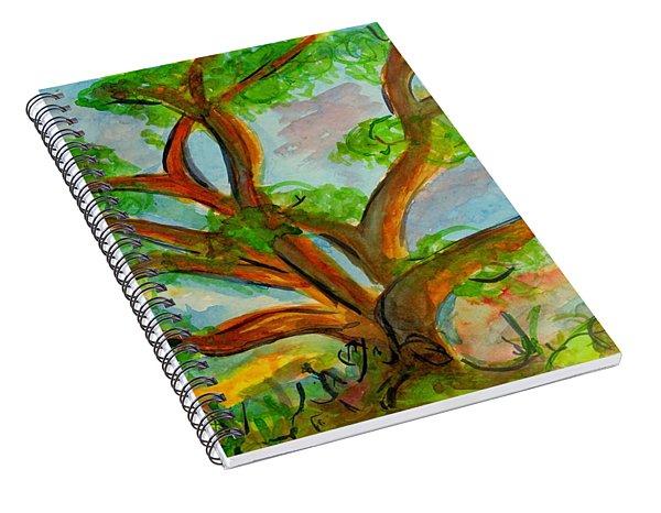 Prayer Mountain Tree Spiral Notebook