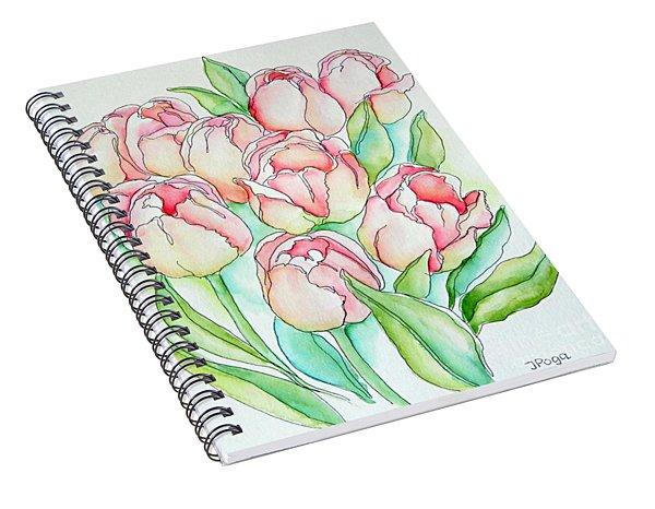 Pretty Tulips Spiral Notebook