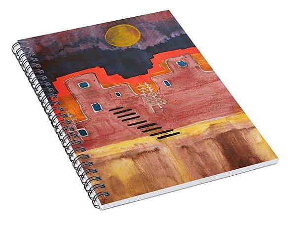 Pueblito Original Painting Spiral Notebook