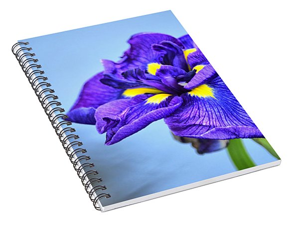 Purple Pond Iris Spiral Notebook