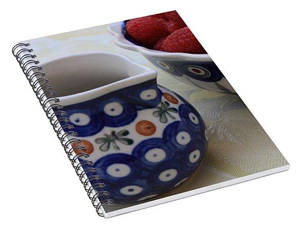 Raspberries With Cream Spiral Notebook