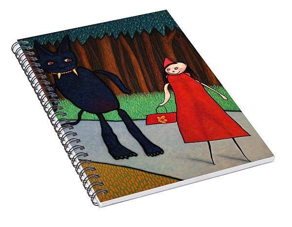Red Ridinghood Spiral Notebook