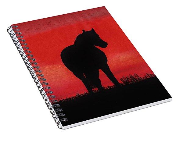 Red Sunset Horse Spiral Notebook