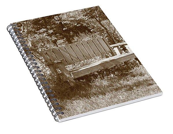 Reflecting Bench Spiral Notebook