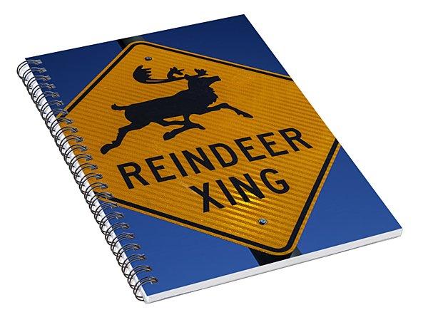 Reindeer Xing Spiral Notebook