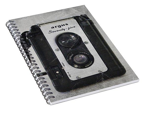 Retro Camera Spiral Notebook