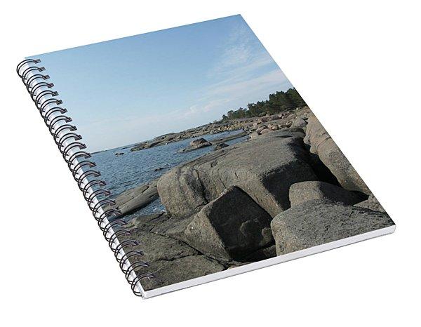 Rocky Seashore 2 In Hamina  Spiral Notebook