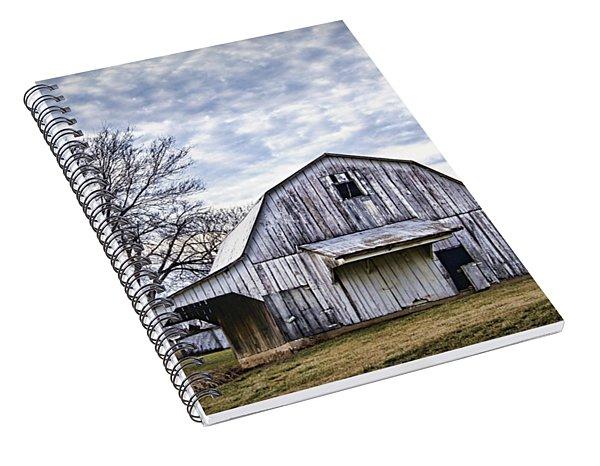Rustic White Barn Spiral Notebook