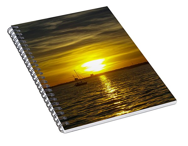 Sailing The Sunset Spiral Notebook