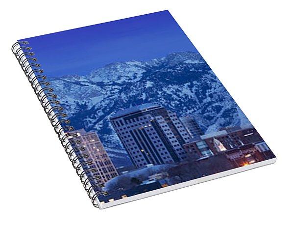 Salt Lake City Skyline Spiral Notebook