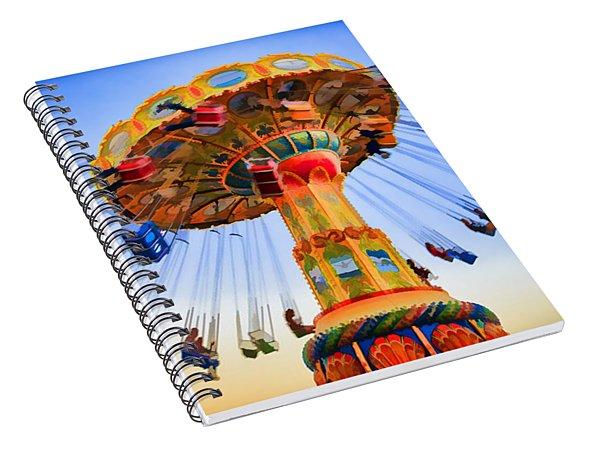 Santa Cruz Seaswing At Sunset 6 Painterly Spiral Notebook