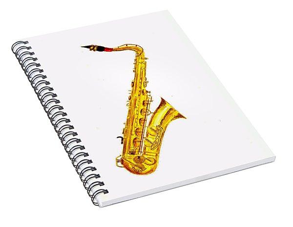 Saxophone Spiral Notebook