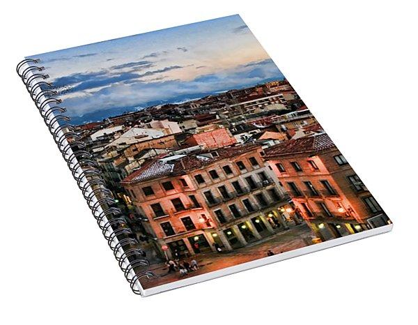 Segovia Nights In Spain By Diana Sainz Spiral Notebook