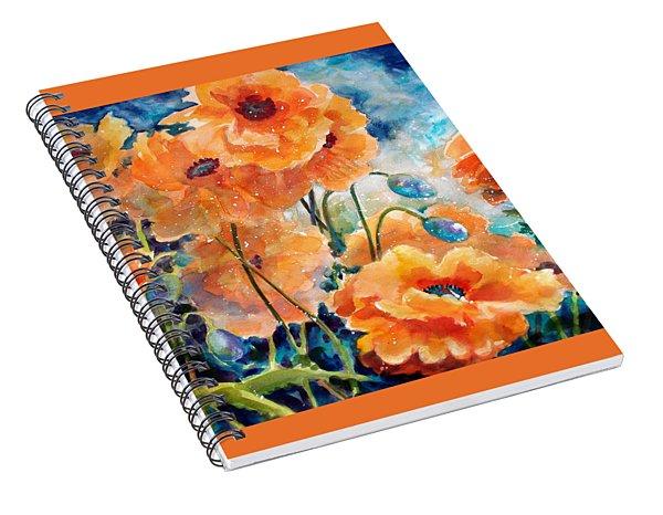 September Orange Poppies            Spiral Notebook