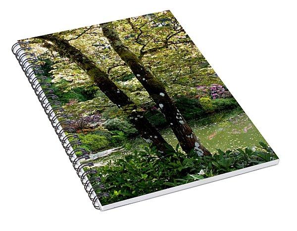 Serene Garden Retreat Spiral Notebook