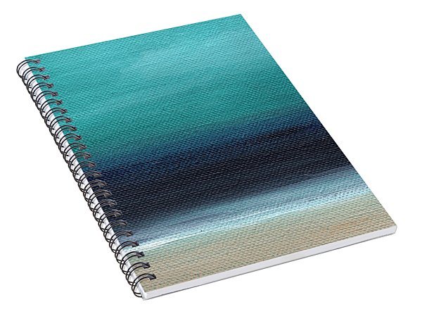 Spiral Notebook featuring the painting Serenity- Abstract Landscape by Linda Woods