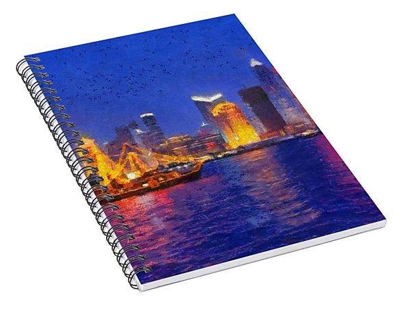 Shanghai During Dusk Time Spiral Notebook