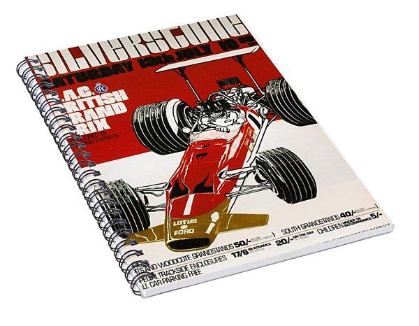 Silverstone Grand Prix 1969 Spiral Notebook