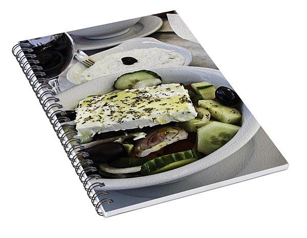 Simple Greek Salad Spiral Notebook