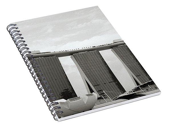 Singapore Skyline Spiral Notebook