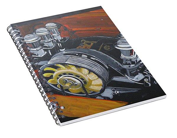 Singer Porsche Engine Spiral Notebook