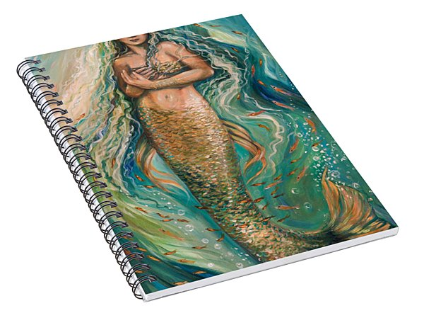 Slumbering Mermaid Spiral Notebook