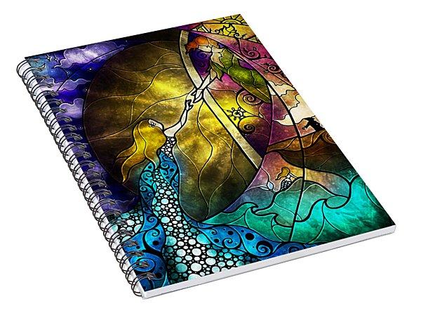 Off To Neverland Spiral Notebook