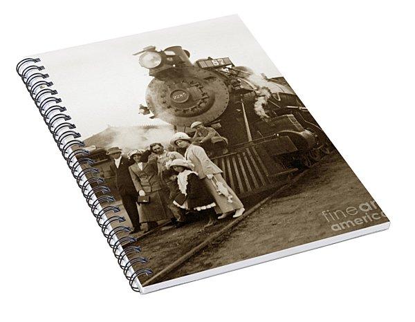 S P Baldwin Locomotive 2285  Class T-26 Ten Wheel Steam Locomotive At Pacific Grove California 1910 Spiral Notebook