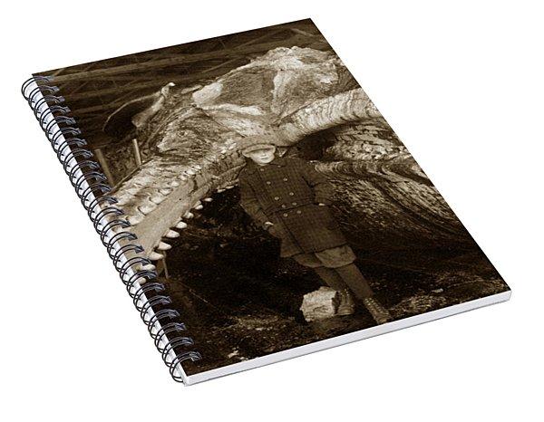 Sperm Whale Taken At Moss Landing California  On January 22 1919 Spiral Notebook