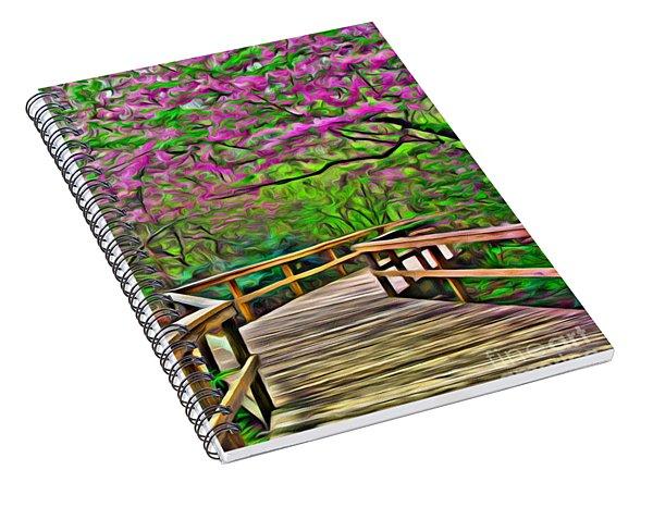 Spring Walk - Paint Rendering Spiral Notebook