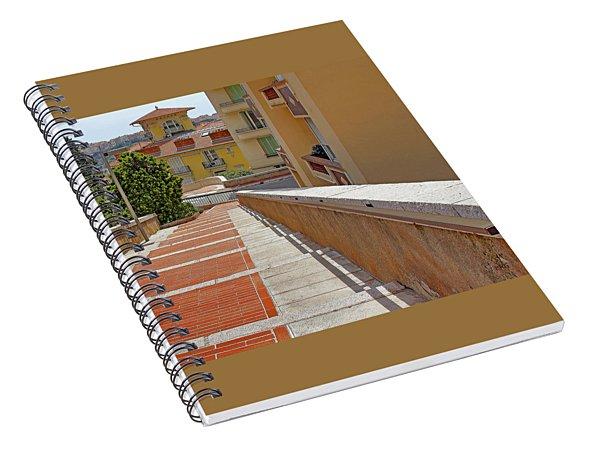 Stairway In Monaco French Riviera Spiral Notebook
