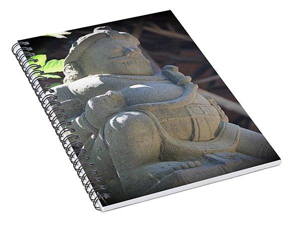 Statue In The Sun Spiral Notebook