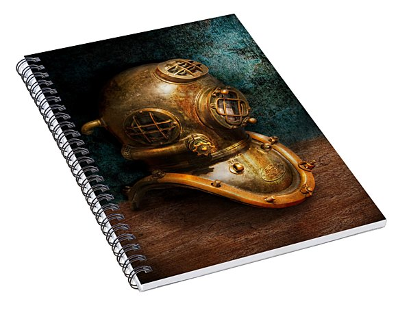 Steampunk - Diving - The Diving Helmet Spiral Notebook