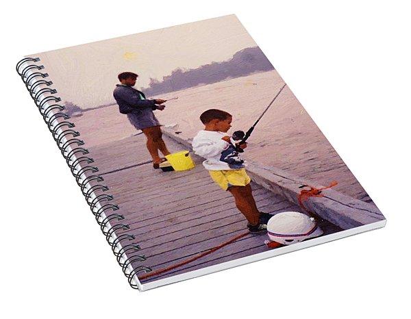 Sunrise Fishing Spiral Notebook