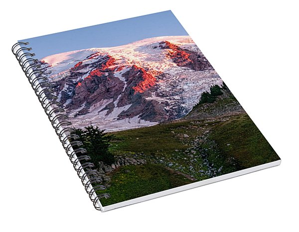 Sunrise Mt Rainier Spiral Notebook