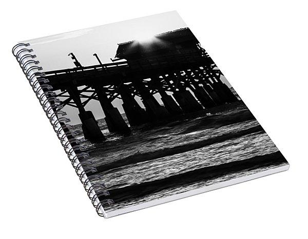 Sunrise Over Pier Spiral Notebook