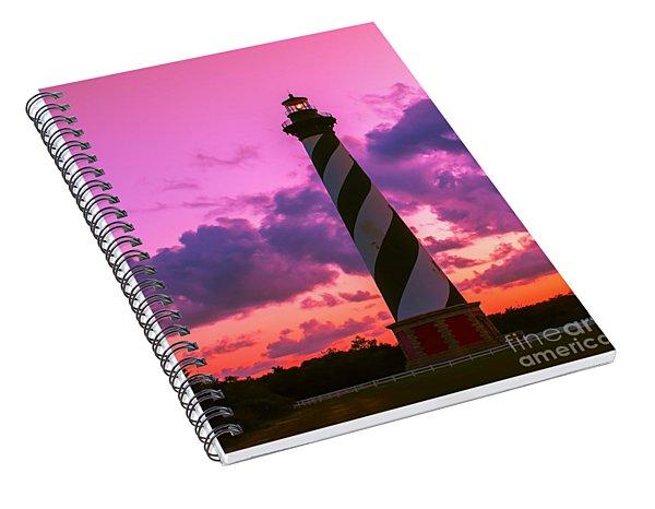 Sunset At Cape Hatteras Vertical  Spiral Notebook