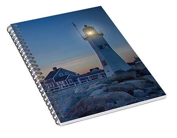 Sunset At Scituate Light Spiral Notebook