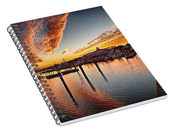 Sunset In Murells Inlet Spiral Notebook